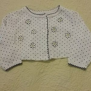 Little Me baby sweater size 6M